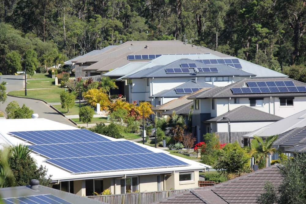 residential solar top of houses